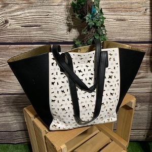 Handbags - WOMENS BLACK AND WITH SHOPPING TOTE BAG